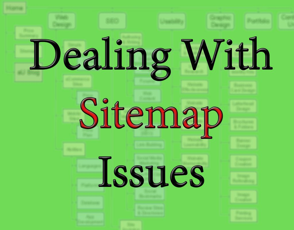 sitemap problems